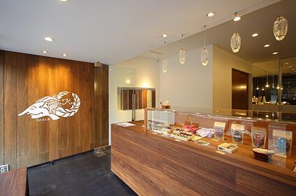 京都市北区にある本店の内部